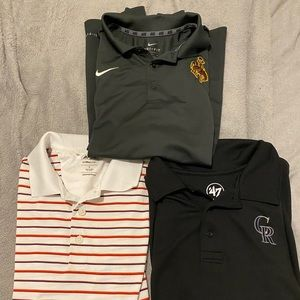 Lot of 3 athletic men's polos